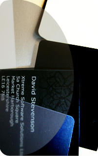 Black, translucent and specal white and metallic bespoke id cards