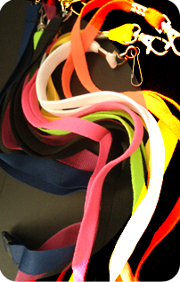 Tubular and flat weave single colour standard lanyards